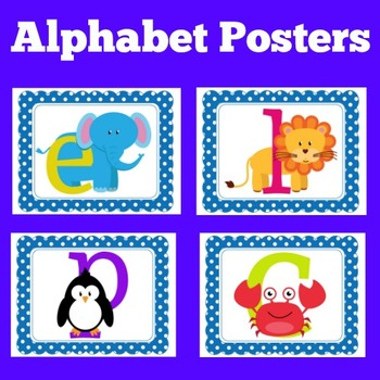 Alphabet Posters | Alphabet Posters Bright Colors | Alphabet Cards for Wall