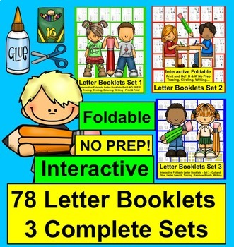 Alphabet Booklets BUNDLE: 78 Foldable Letter Books NO PREP!