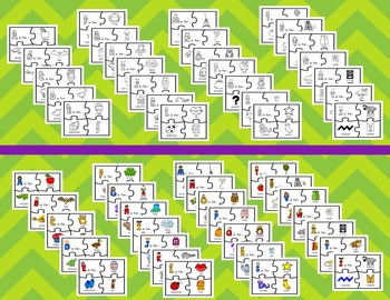Alphabet Puzzles (Including Color and Black and White)