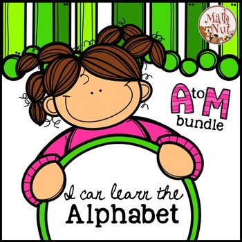 """Alphabet Bundle """"Alphabet Letter of the Week"""" (A to M) Site Words"""