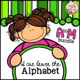 "Alphabet Bundle ""Alphabet Letter of the Week"" (A to M) Site Words"