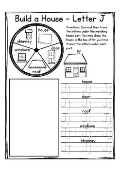 """Alphabet Letter of the Week J """"Site Words"""""""
