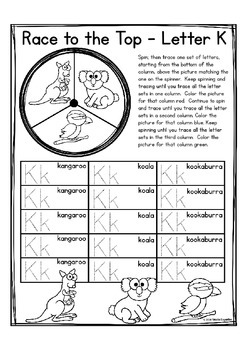 """Alphabet Letter of the Week K """"Site Words"""""""