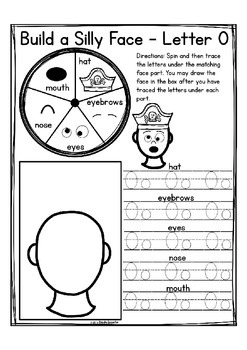 """Alphabet Letter of the Week O """"Site Words"""""""