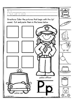 """Alphabet Letter of the Week P """"Site Words"""""""