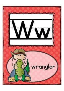"""Alphabet Letter of the Week W """"Site Words"""""""