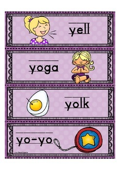 Alphabet Letter of the Week Y