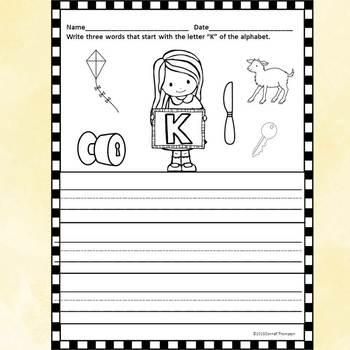 "Alphabet Letter of the Week ""Letter K"" (Alphabet Worksheets)"