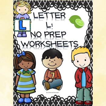 "Alphabet Letter of the Week ""Letter L"" (Alphabet Worksheets)"