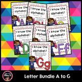 Alphabet Letters Bundle A B C D E F G