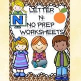 Alphabet Activities: Letter N (Alphabet Letter of the Week)