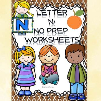 Alphabet Letter of the Week: Letter N (No Prep Worksheets)