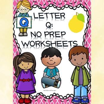 "Alphabet Letter of the Week ""Letter Q"" (Alphabet Worksheets)"