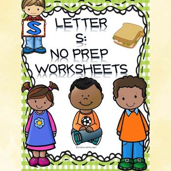 "Alphabet Letter of the Week ""Letter S"" (Alphabet Worksheets)"