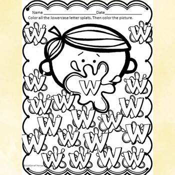 "Alphabet Activities ""Letter W"" (Alphabet Letter of the Week)"