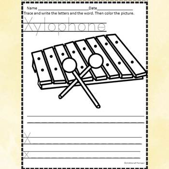 "Alphabet Letter of the Week ""Letter X"" (Alphabet Worksheets)"