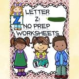 Alphabet Activities: Letter Z (Alphabet Letter of the Week)