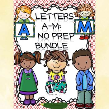 Alphabet Letter of the Week: Letters A to M Bundle