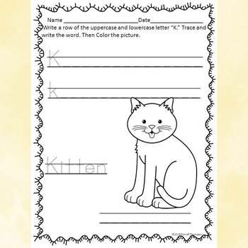 "Alphabet Letter of the Week ""Letters A to M"" Bundle (Alphabet Worksheets)"