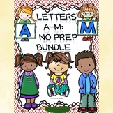 Alphabet Bundle: Alphabet Letter of the Week (Letters A to M)