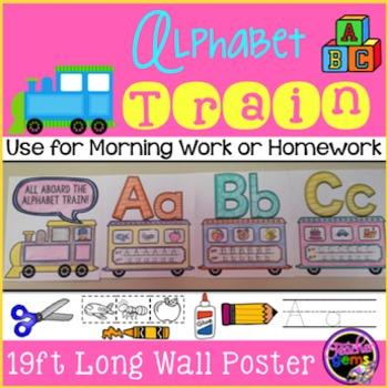 Alphabet Train Wall Poster - 19 feet long!