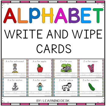 Alphabet Practice (Write and Wipe Cards)