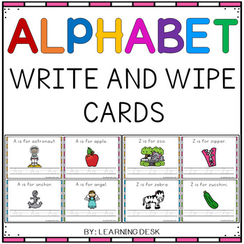 Alphabet Practice (Write and Wipe Cards)