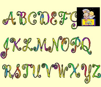 Alphabet - Numbers - Clip Art - End of Year