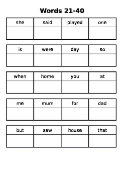 Alphabet, 300 sight words and reading record homework booklet