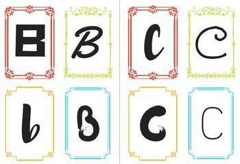 Alphabet (4 x designs / letter)