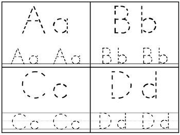 Alphabet 4x5 Tracing Cards