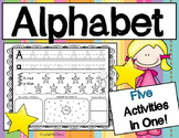 Alphabet! Trace It, Write It, Color It, Highlight It, Draw it, Rainbow Write it