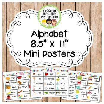 """Alphabet 8.5"""" x 11"""" Mini Posters"""
