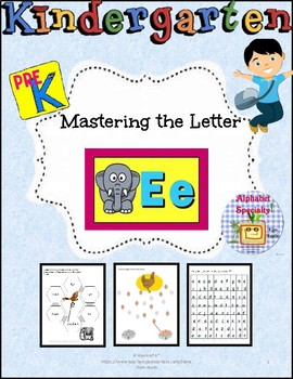 Alphabet Specialty: A Week of the Letter Ee  Activities/Worksheets Alpha Pack
