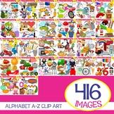 Alphabet A-Z Clipart  Bundle