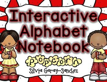 Alphabet A-Z Interactive Notebook Popcorn