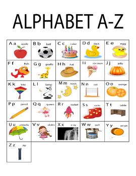 Banana Uppercase Lowercase  A-Z Monkey Laminated Activity Cards