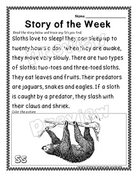 Alphabet A-Z Letter of the Week Bundle, Phonics packet, RTI