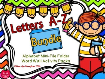 Alphabet A-Z Mini-File Folder Word Wall Activity Packs | Bundle
