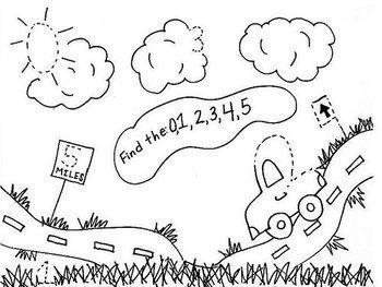 Alphabet A-Z, Numbers 1-20, 8 Shapes Hide & Seek Fun Sheets