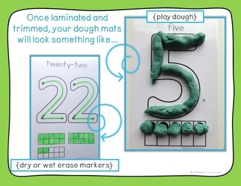 Numbers 0-100 Formation & Ten Frames Play Dough Dry Erase Mats