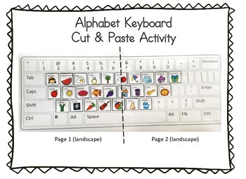 Keyboard Cut & Paste Phonics Picture Matching Activity