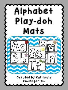 Alphabet A-Z Playdoh Mats