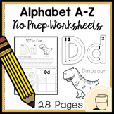 Alphabet A-Z Worksheets (No Prep)