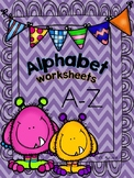 Alphabet A- Z Worksheets - Trace / Write / Color