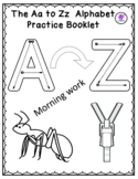 Alphabet A-Z morning work booklet-reading writing and colo