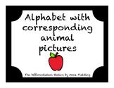 Alphabet A-Z with black background