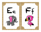 Alphabet A-Z with natural background