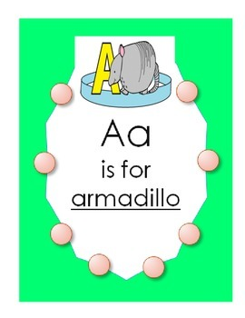 """Alphabet  """"A is for Armadillo"""" Spanish Hat Patterns (5 versions)"""