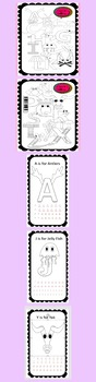 Alphabet A to Z coloring in and tracing